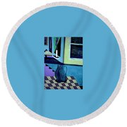 Paris Memories  By Bill O'connor Round Beach Towel by Bill OConnor