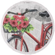 Paris Ride 2 Round Beach Towel by Debbie DeWitt