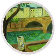 Paris Rubbish Round Beach Towel