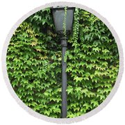 Parisian Lamp And Ivy Round Beach Towel