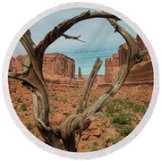 Round Beach Towel featuring the photograph Park Avenue by Gary Lengyel