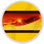 Park City Gold Round Beach Towel by Richard W Linford