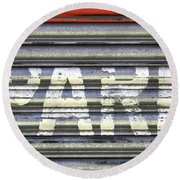 Park Here Round Beach Towel