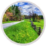 Parkway Spring Round Beach Towel by Dale R Carlson