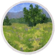 Parkway Spring Oil Round Beach Towel