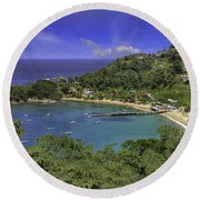 Parlatuvier Bay Round Beach Towel