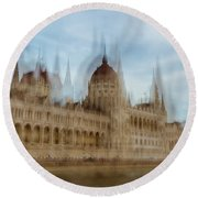Round Beach Towel featuring the photograph Parliamentary Procedure by Alex Lapidus