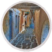 Paros Beauty Island Greece  Round Beach Towel