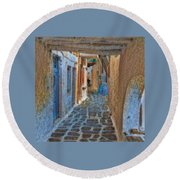 Paros Beauty Island Greece  Round Beach Towel by Colette V Hera Guggenheim