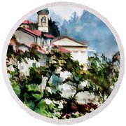 Parrocchia Di Colonno Round Beach Towel by Jennie Breeze