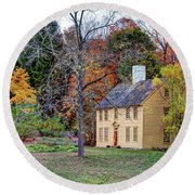 Parson Barnard House In Autumn Round Beach Towel