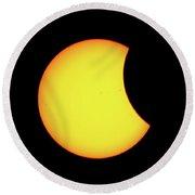 Partial Eclipse 1 Round Beach Towel