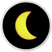 Partial Eclipse 3 Round Beach Towel