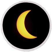 Partial Eclipse 4 Round Beach Towel