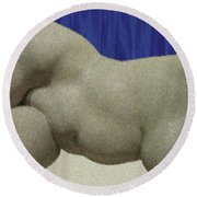 Partial Nude At Rest Round Beach Towel