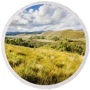 Parting Creek Regional Reserve Tasmania Round Beach Towel