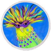 Party Animal Round Beach Towel
