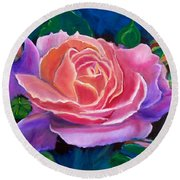 Gala Rose Round Beach Towel by Jenny Lee