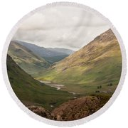 Pass Of Glencoe II Round Beach Towel