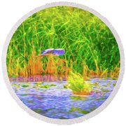 Round Beach Towel featuring the photograph Passing Artistic. by Leif Sohlman