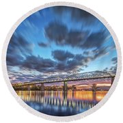 Passing Clouds Above Chattanooga Round Beach Towel