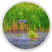 Round Beach Towel featuring the photograph Passing.  by Leif Sohlman