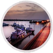 Passing Lights Round Beach Towel