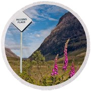 Passing Place Round Beach Towel