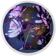 Passion Flower Pods Round Beach Towel by Shirley Moravec