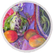 Passion Round Beach Towel by Lisa Boyd