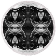 Passion Of The Darkness Round Beach Towel by Rachel Hannah