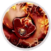 Passions Flame Round Beach Towel