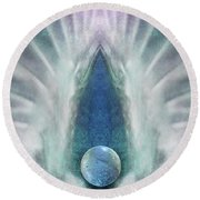 Passion's Pearl Round Beach Towel