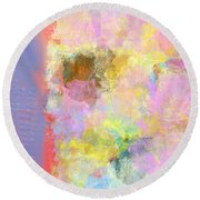 Pastel Flower Round Beach Towel by Jessica Wright