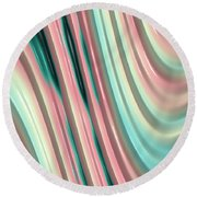 Pastel Fractal 2 Round Beach Towel by Bonnie Bruno