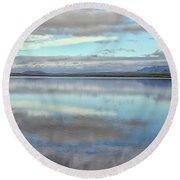 Pastel Landscape Round Beach Towel