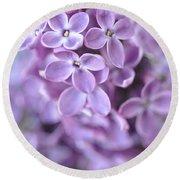 Pastel Lilacs Round Beach Towel