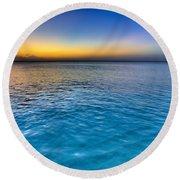 Pastel Ocean Round Beach Towel by Chad Dutson