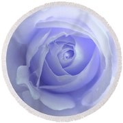 Pastel Purple Rose Flower Round Beach Towel