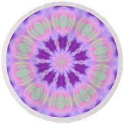 Pastel Purple Wheel Round Beach Towel by Shirley Moravec