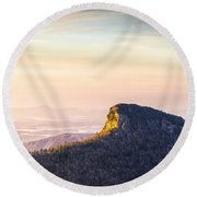 Table Rock Mountain - Linville Gorge North Carolina Round Beach Towel