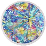 Pastel Shining Round Beach Towel