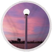 Pastel Skylight Round Beach Towel
