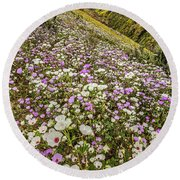 Pastel Super Bloom Round Beach Towel