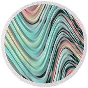 Pastel Zigzag Round Beach Towel by Bonnie Bruno