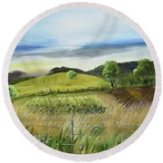 Pasture Love At Chateau Meichtry - Ellijay Ga Round Beach Towel by Jan Dappen
