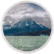 Patagonia Lake Round Beach Towel by Andrew Matwijec