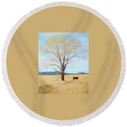 Patagonia Pasture 2 Round Beach Towel