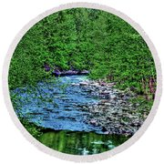 Patapsco River Round Beach Towel