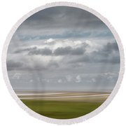 Patch Of Blue Round Beach Towel